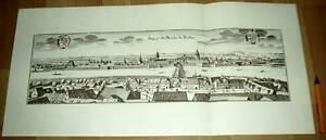 Dresden-alte-Ansicht-Merian-Druck-Stich-1650-schw-Sachsen-Staedteansicht