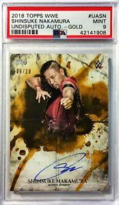 Shinsuke-Nakamura-2018-Topps-WWE-Undisputed-Autograph-Gold-9-10-PSA-9-Mint-Auto