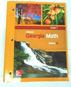 Glencoe Georgia Math Volume 2 Grade 7 by McGrawHill Education
