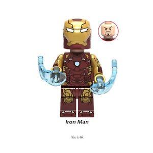 MINIFIGURES IRON MAN MARK 42 con ACCESSORI COMPATIBILE LEGO NUOVA CUSTOM
