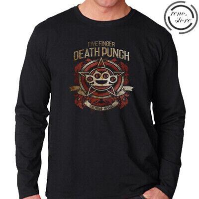 Five Finger Death Punch Las Vegas Men/'s Long Sleeve Black T-Shirt Size S to 3XL