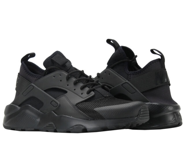 d2a4a93bf4d3 Nike Air Huarache Run Ultra Mens 819685-002 Black Mesh Running Shoes Size 11