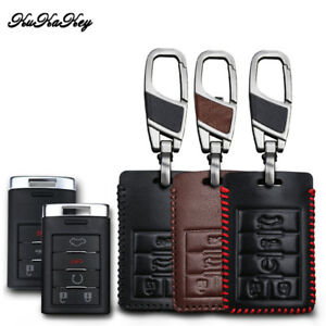 Red Smart Key Case Cover holder fit for Cadillac ATS CTS DTS XTS or Corvette C7
