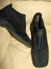 BOGNER 152088 Black Winter Suede Leather Ankle Boots Shoes Stretch Womens, 6.5 B