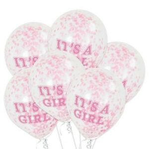 "10pcs 12/"" Blue It/'s A Girl Latex Balloon Bundle Baby Shower Gender Reveal"