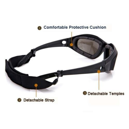 Daisy C5 Military Tactical Goggles Motorcycle Riding Glasses Sunglasses Eyewe MC