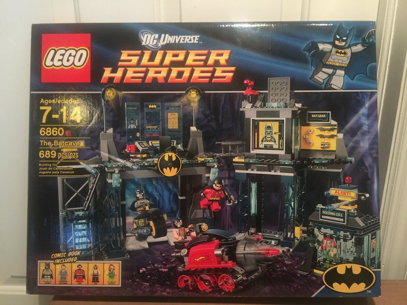 LEGO Super Heroes The Batcave (6860) new new new sealed great minifigures 9060df