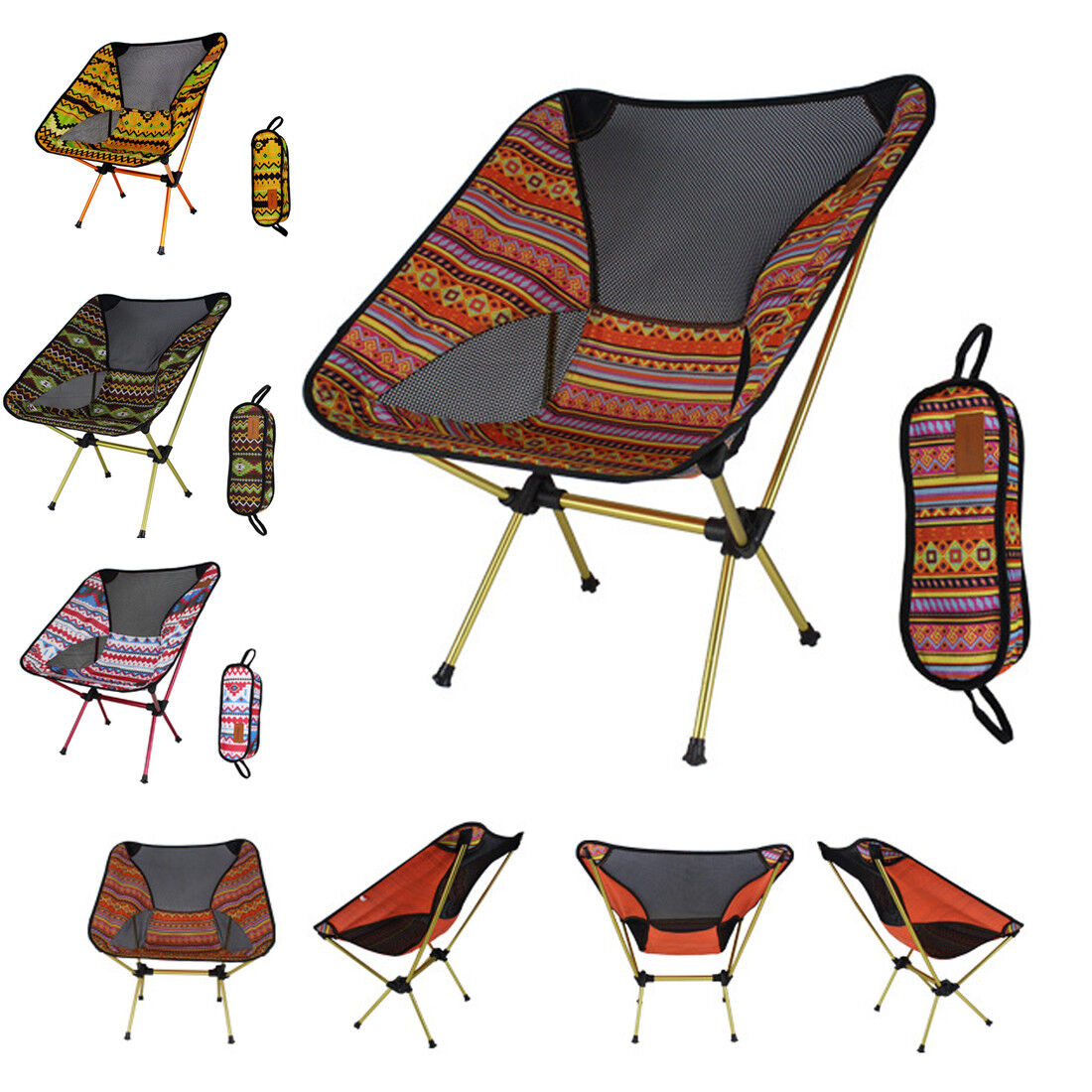 Folding Indian Camping Chair Outdoor Hiking Ultra-light Portable Foldable Chair