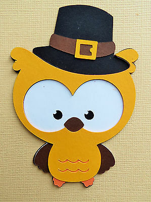 Cute Animals Thanksgiving Fall Turkey Bear Pilgrim Paper Scrapbook Embellishment