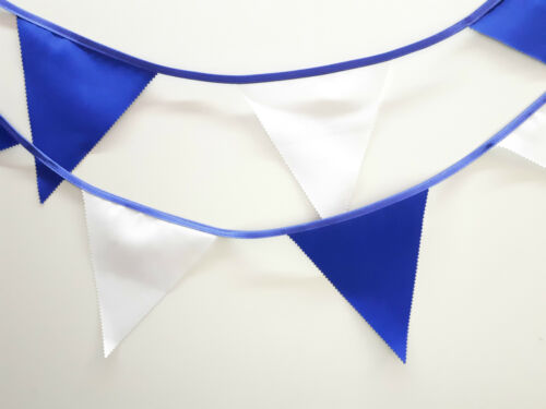 Birthday 10 mtr Party Christmas Wedding Royal Blue and White bunting