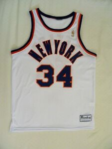 sports shoes a3889 a9a30 Details about New York Knicks Authentic Charles Oakley Jersey TBTC 50th sz  40 M 96-97 NEW USA