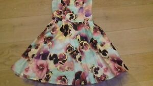 BHS Multi Coloured Floral Strapless