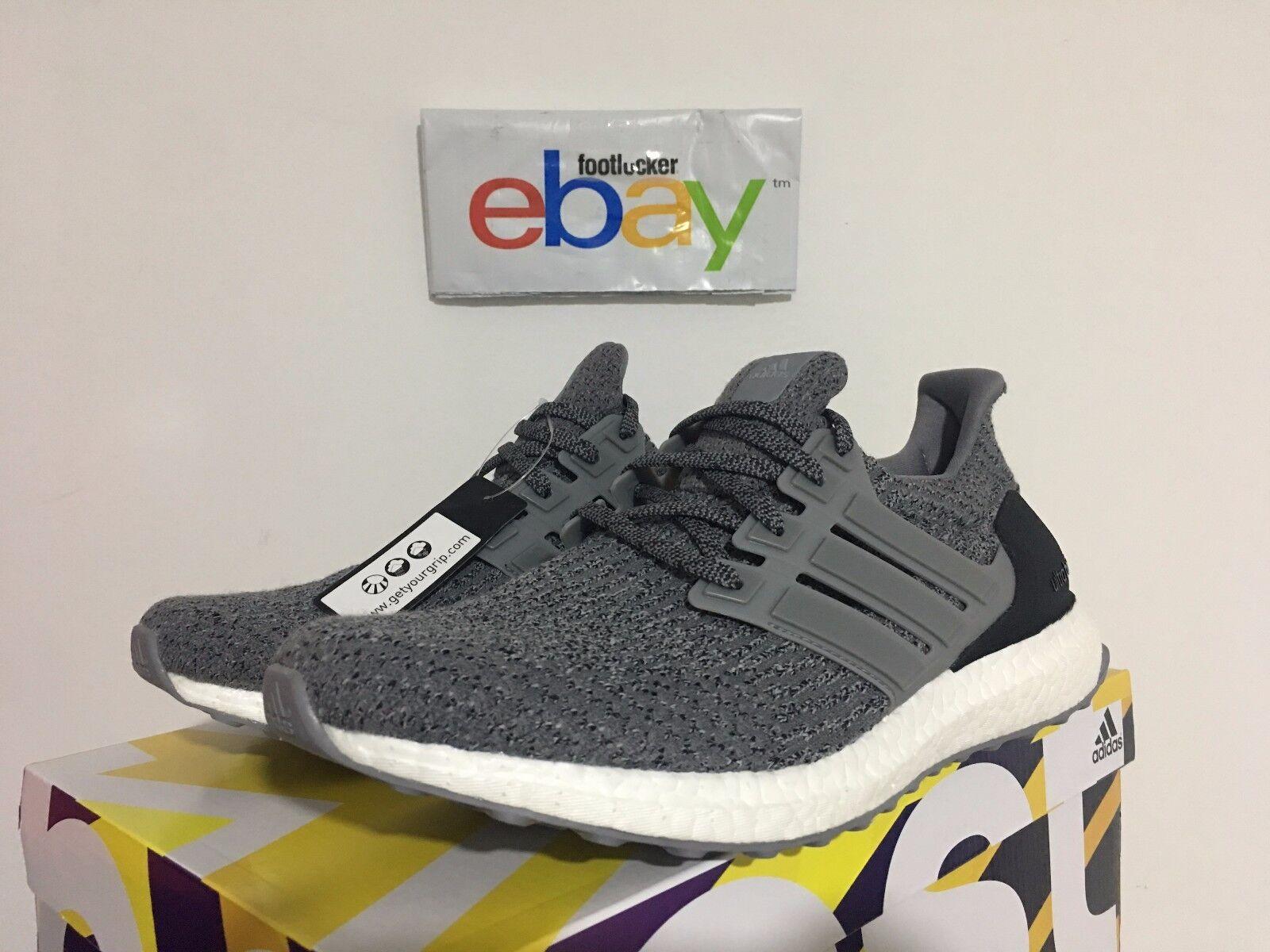 Adidas Ultra Boost 3.0 LTD Triple Grey Three Gray White S82023 Men's 7.5-9.5 New