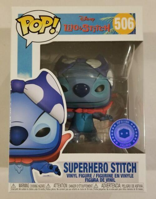 SUPERHERO STITCH Funko Pop Disney #506 Pop In A Box Exclusive