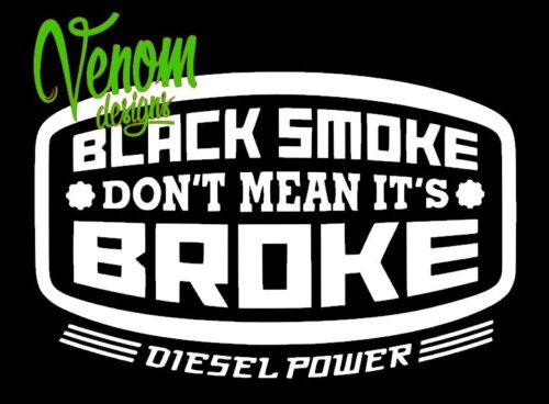 Boîte à Outils Autocollant transfert//Vinyle Mur Art Décalque Graphique Drôle Diesel Power Smoke
