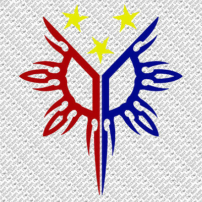 3-COLOR PHILIPPINES FLAG SUN STAR PINOY PINAY CUSTOM VINYL DECAL STICKER (PH-01)