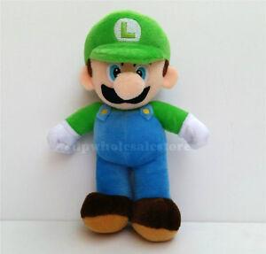 "New Super Mario Bros. LUIGI Plush Doll Stuffed Animal Toy 10"""