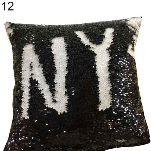 Double Color Glitter Sequins Throw Pillow Case Sofa Cushion Covers Novelty