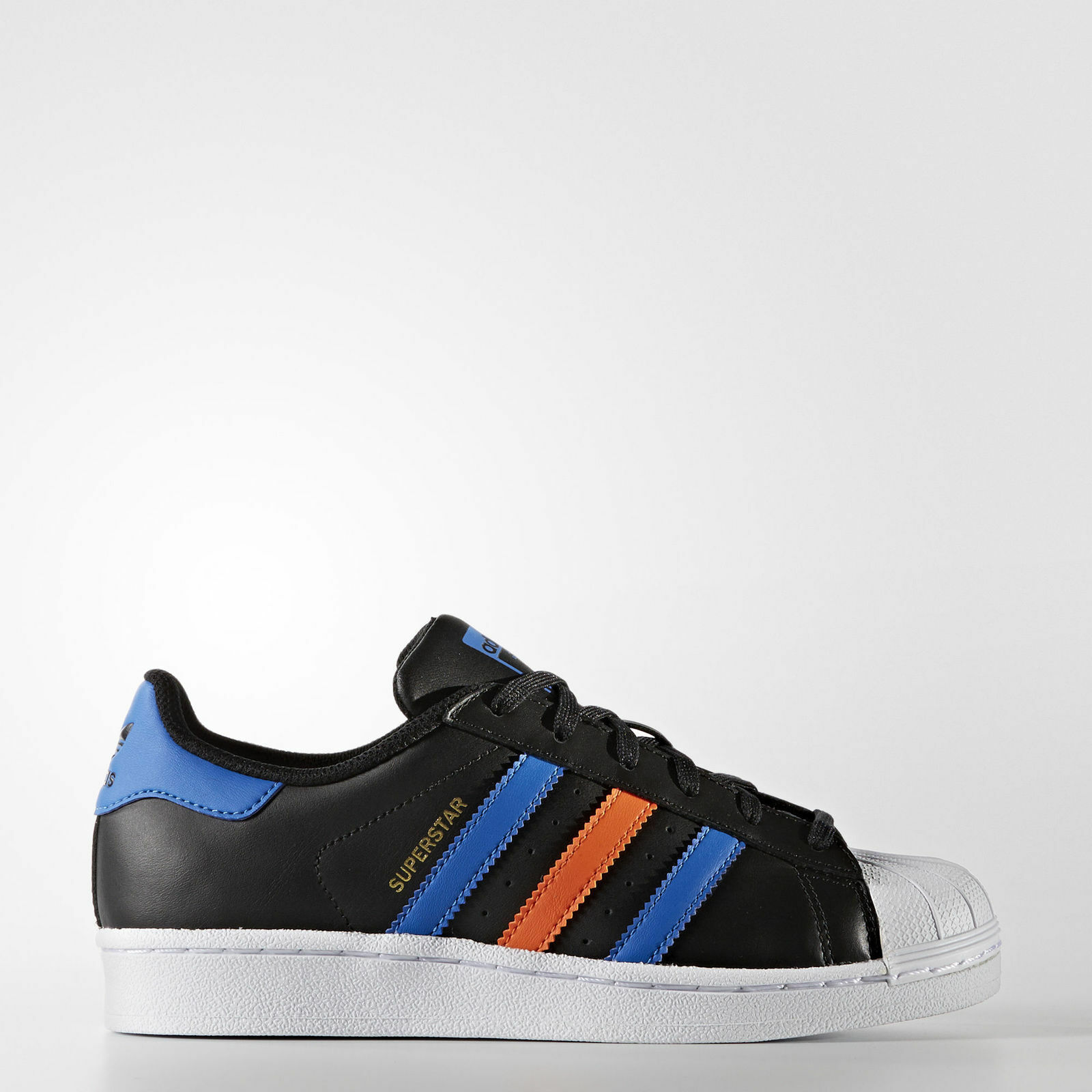 Adidas Originals Superstar J Juniors Youth Kids Nero / Blue BB0353 SIZE   5