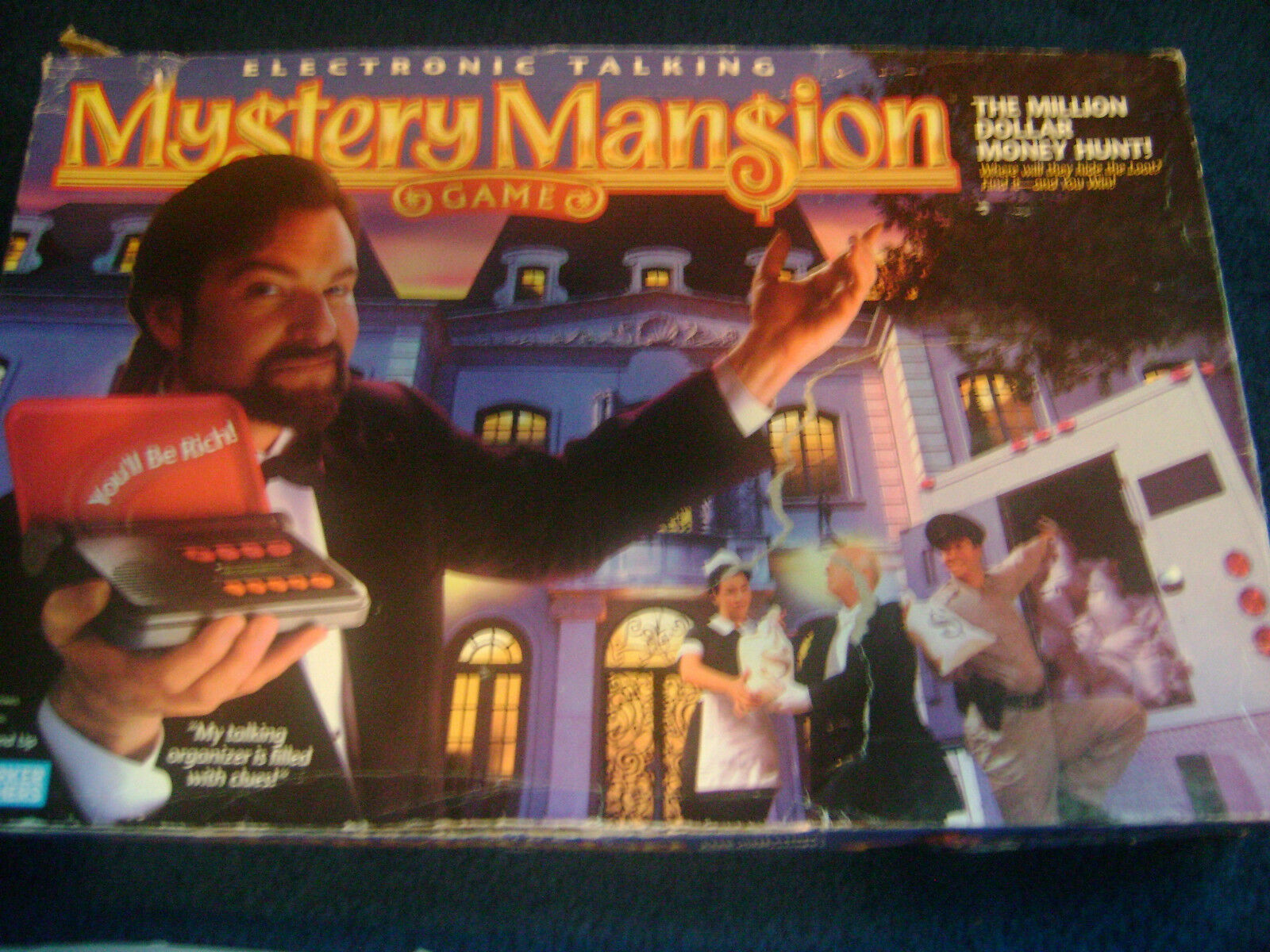 1996 PARKER BredHERS BredHERS BredHERS ELECTRONIC TALKING MYSTERY MANSION GAME with EXTRA PIECES 7b56d2