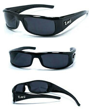 Locs Motorcycle Bikers Cholo Sport Outdoor Mens OG Style Sunglasses - Black LC09