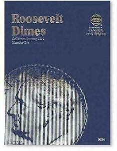 Whitman Coin Folder 9034 Roosevelt Dime Folder #2 1965-2004