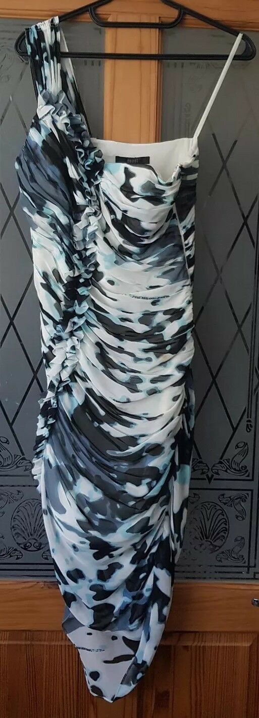 COAST - Stunning one shoulder , bodycon dress  , , , size 10 . Wedding , ocassion 7fa466
