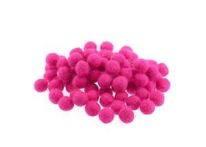 10 Perline Palle Di Feltro Naturale Ø 1.1 CM Nepal Rosa Fucsia 2415A