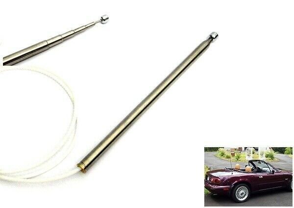 Power Antenna Aerial AM FM Radio Replacement Mast Cable 99-05 Mazda MX5 NB Miata