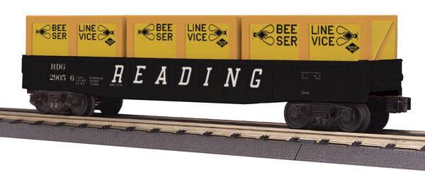 NIB O MTH Railre 3072116 Gondola wCrates Reading  29056