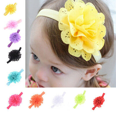 10pcs Kids Baby Flower Headband Hair Band Girls Hair Accessories Gift 0x