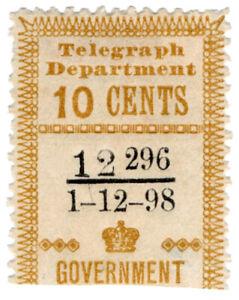 I-B-Ceylon-Telegraphs-Provisional-10c-1898