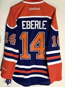 purchase cheap 1f5dd bcf59 Details about Reebok Premier NHL Jersey Edmonton OIlers Jordan Eberle Blue  sz L