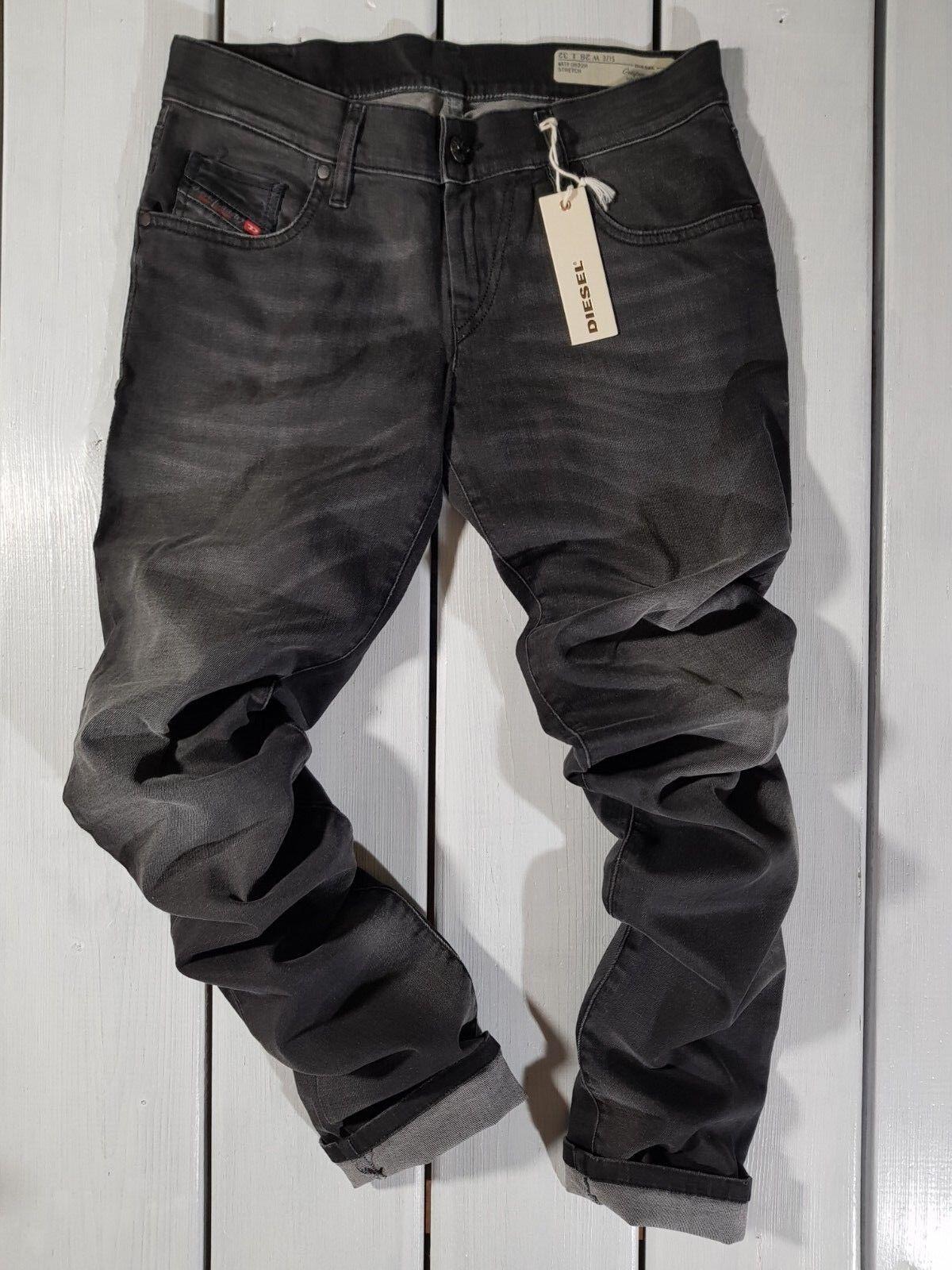 Neu Diesel DAMEN Jeans W28 L32 Grupee-Bzip 0822R Supereng Skinny