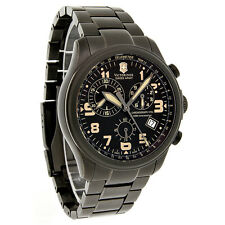 Victorinox Swiss Army Infantry Vintage Mens Gunmetal Swiss Chrono Watch 241289