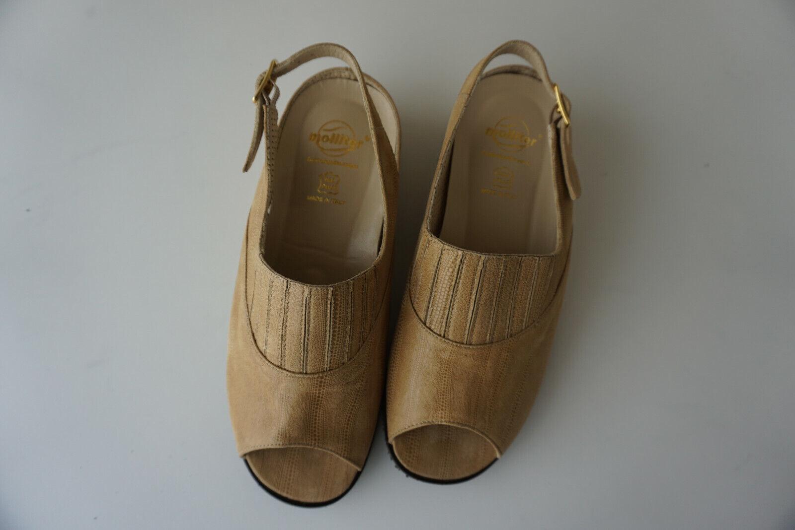 Orthopédique Molliter Sandale Femme Été Chaussure Léger Gr.38 Caramel Cuir Neuf