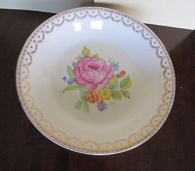 "AMERICAN HOMES DINNERWARE ""CARMEN"" SERVING BOWL~22K GOLD~9X 1 3//4""H"