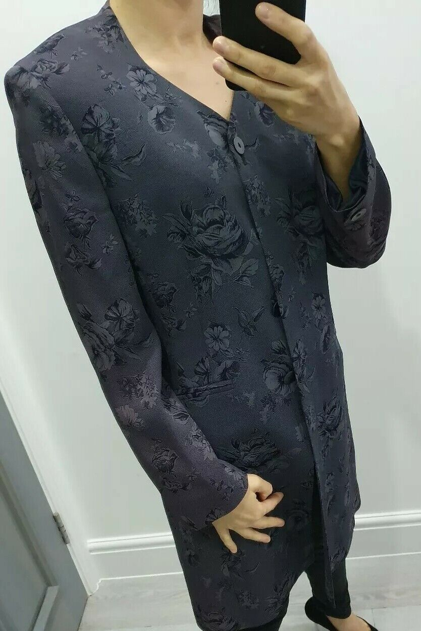 Precis Petite floral print 2 pcs set a dress and a jacket size Uk 10