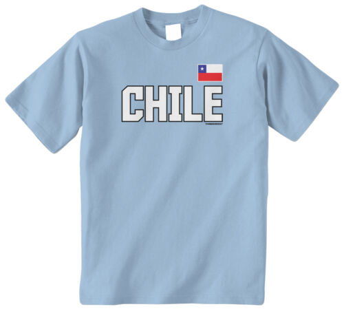 Threadrock Kids Chile National Team Youth T-shirt Chilean Flag Pride Soccer