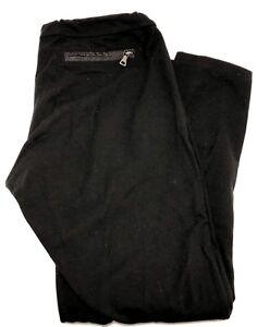 PRADA-SPORT-BLACK-COTTON-CAPRI-LEGGINGS-M-415