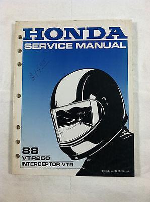 HONDA VTR250 INTERCEPTOR VTR DEALER'S SERVICE MANUAL GUIDE 1988