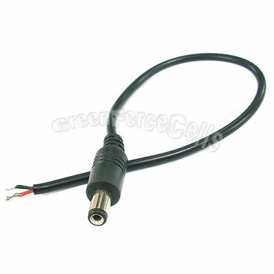 1 x Male 5.5 x 2.1mm DC Power Jack Connector Adapter with Wire Cord Cable 25cm
