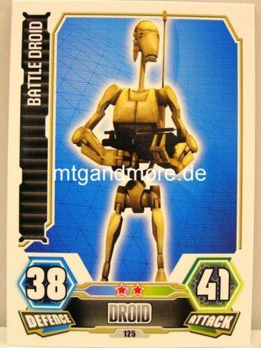 Battle Droid #125 Force Attax série 3