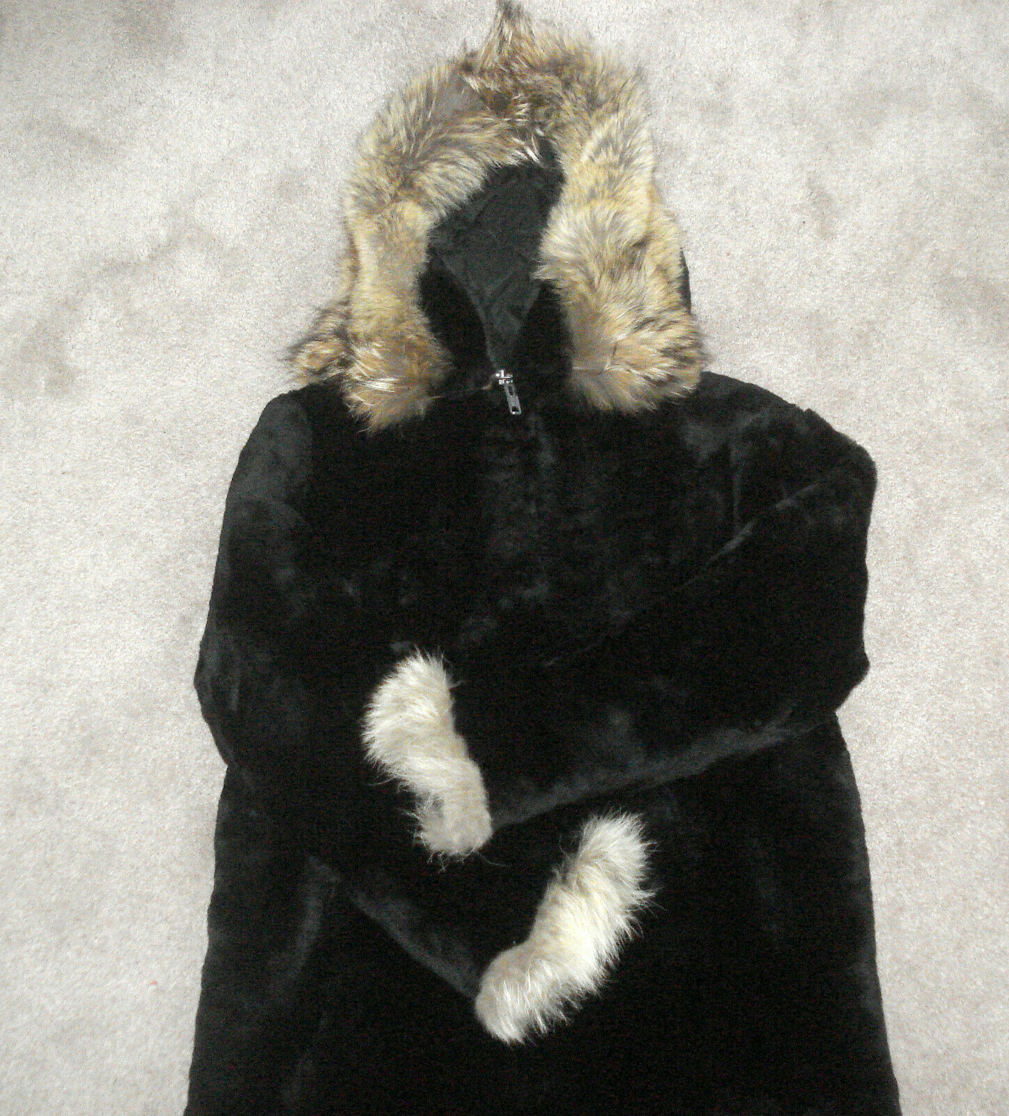 Anchorage Fur Factory Women's Medium Parka Black Fur Winter Insulated Coat - M