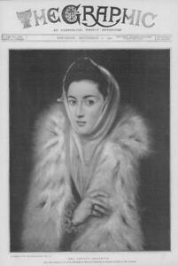 1901-FINE-ART-Antique-Print-Artists-Daughter-El-Greco-Guildhall-Spanish-134
