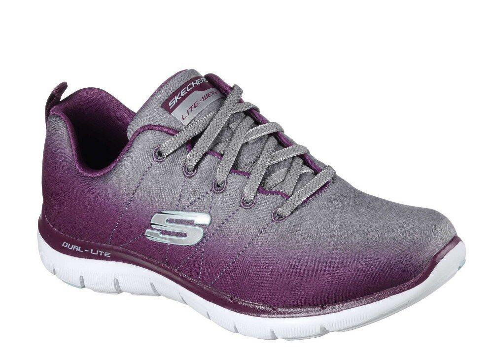 Skechers Damenschuhe Flex Appeal 2.0 Memory Foam /Silver. Schuhes Trainers - Burgandy /Silver. Foam f6ad82