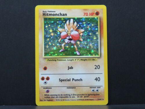 Near Mint Hitmonchan 7//102 Base Set Pokemon Card
