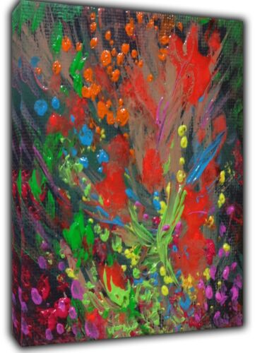 ABSTRACT OIL PAINT BY JACKSON PALLOCK   RE   PRINT ON FRAMED CANVAS WALL ART