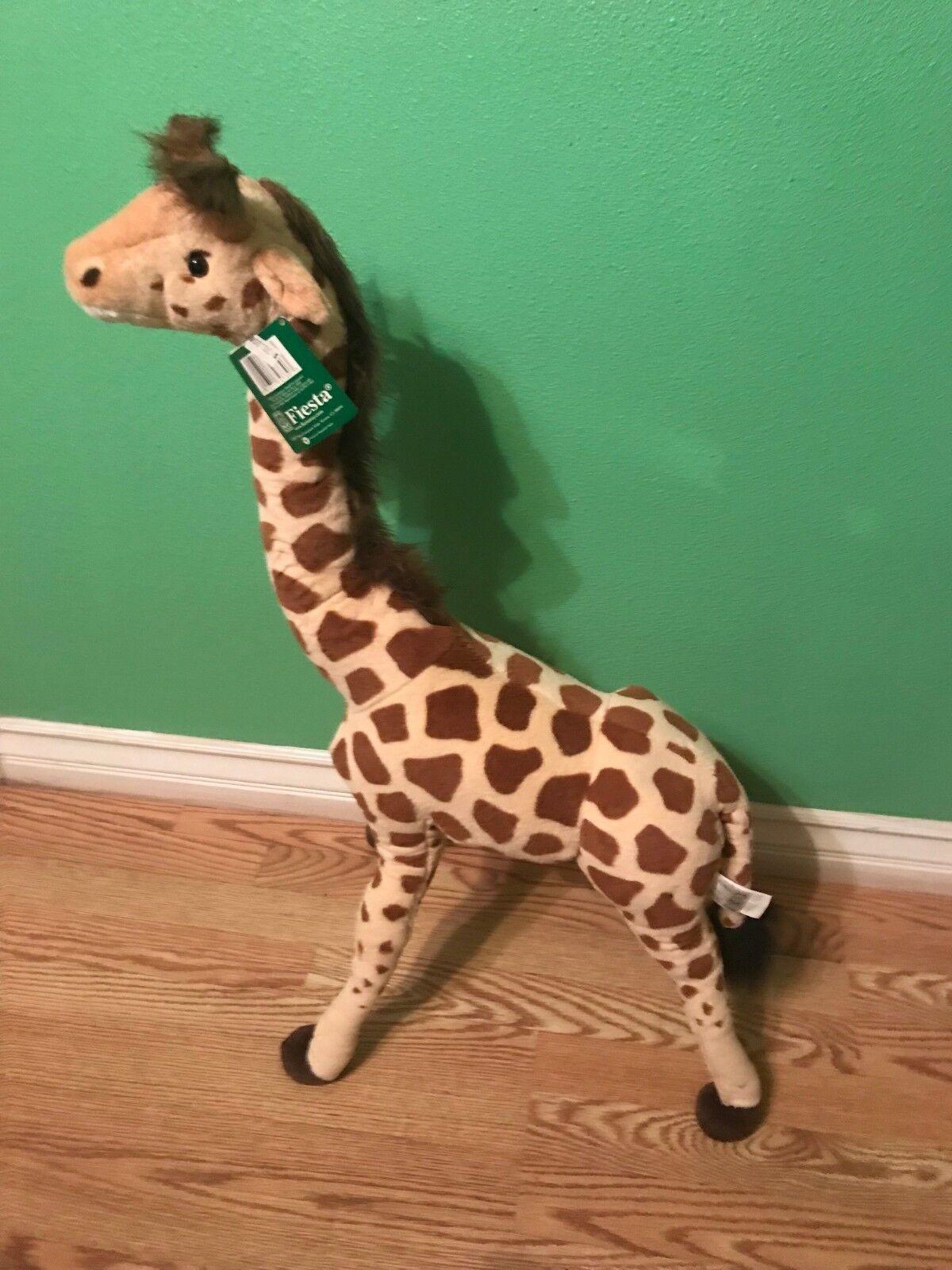 Fiesta Toys Giraffe Standing Plush Stuffed Animal Toy by Plush, 34  Large