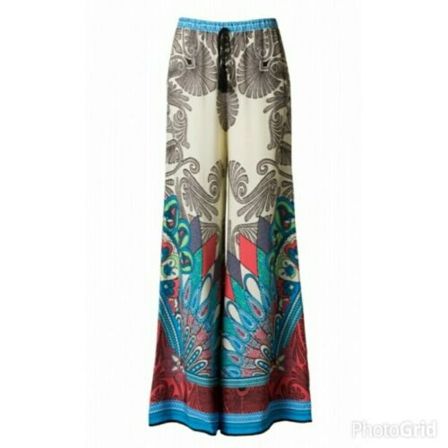 Details about  /Palazzo Pants Aqua Flying Tomato Juniors Palazzo Pants Printed Palazzo Pants